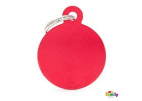 Chapa Basic Círculo Grande Rojo
