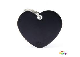 Chapa Basic Corazón Grande Negro