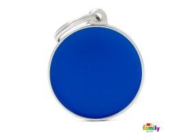 Chapa Basic Handmade Círculo Grande Azul
