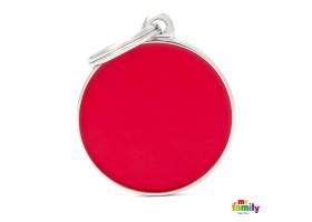 Chapa Basic Handmade Círculo Grande Rojo