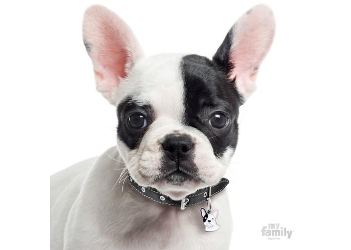 Chapa Friends Bulldog Francés Blanco y Negro
