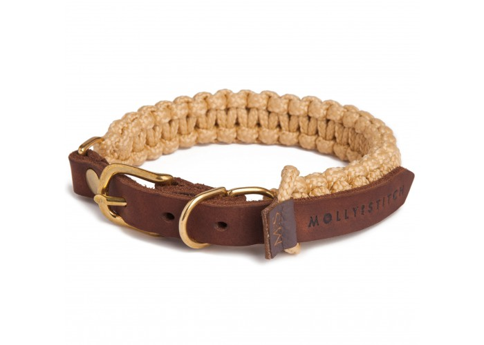 Collar para perro Touch of Leather Beige Molly & Stitch Mascoboutique