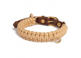 Collar Touch of Leather Beige