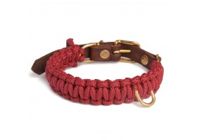Collar Touch of Leather Redwine