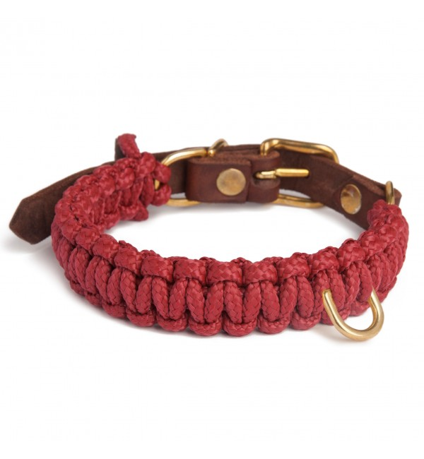 Collar para perro Touch of Leather Burdeos Molly & Stitch