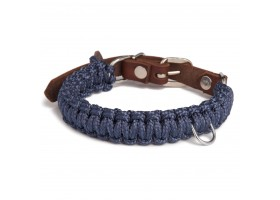 Collar Touch of Leather Navy