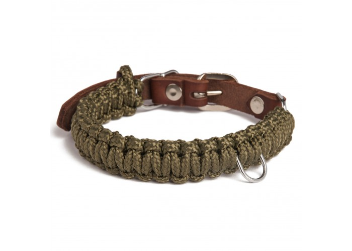 Collar para perro Touch of Leather Verde Molly & Stitch Mascoboutique