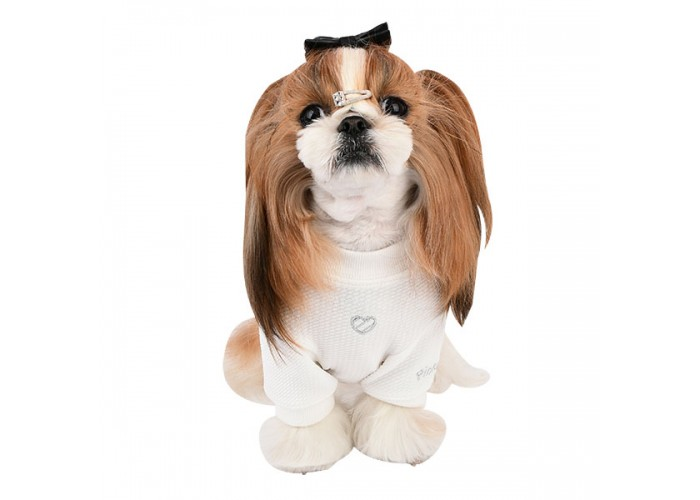 Camiseta para perro Cherie Blanca Pinkaholic