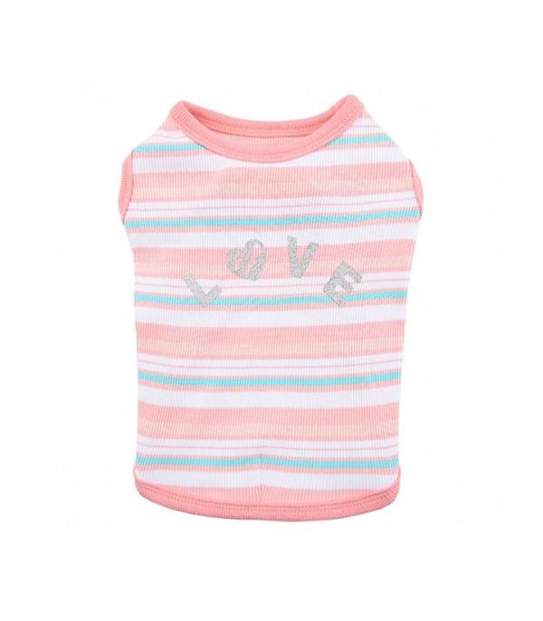Camiseta para perro Cara Rosa Pinkaholic