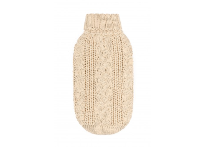 Jersey para perro Chunky Cable Natural Alqo Wasi Mascoboutique