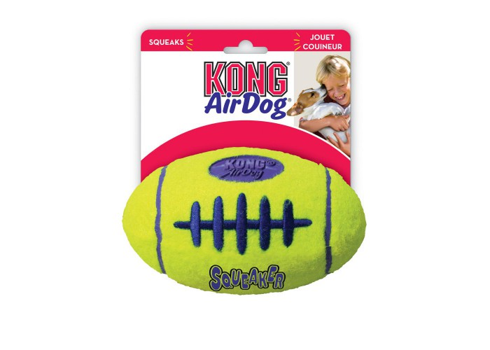 Kong Air Dog Squeaker Football para perro Mascoboutique