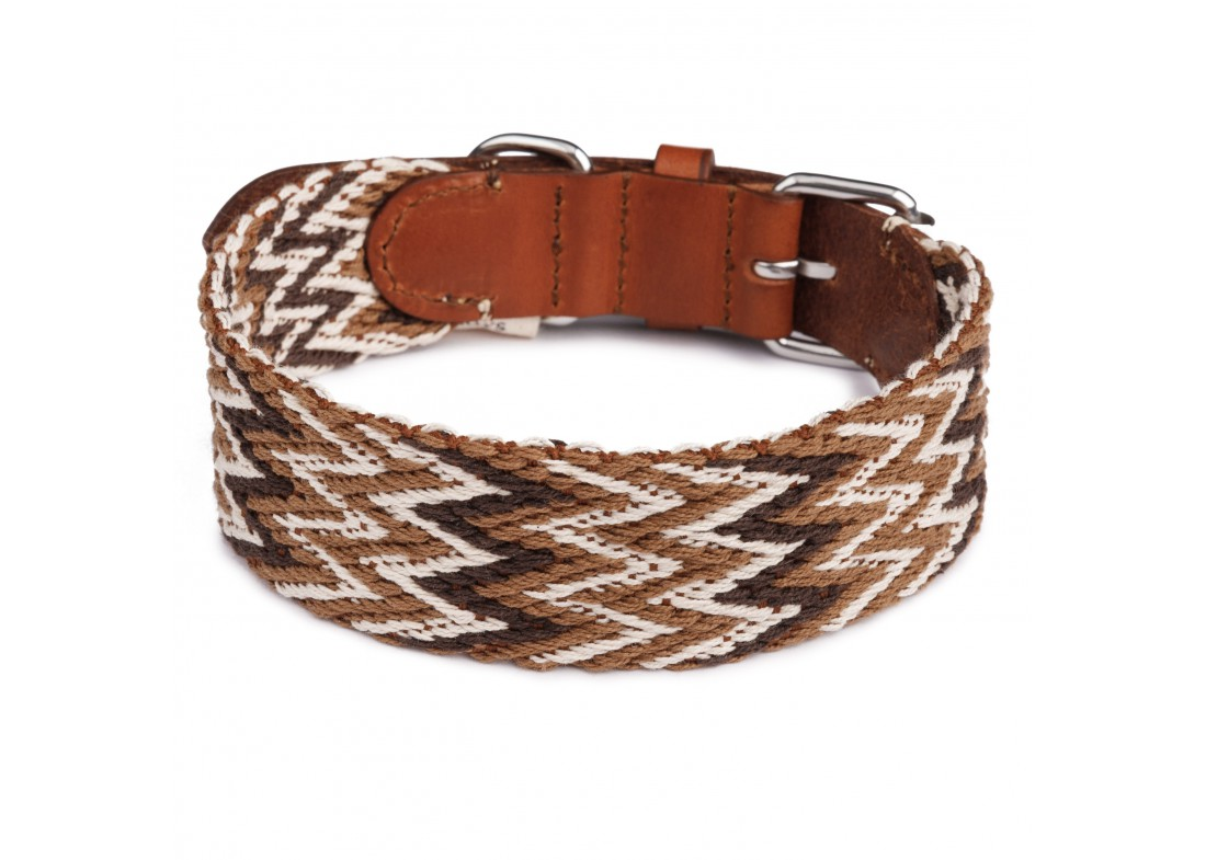 4369f83fb3bb Collar para perro Peruvian Marrón Buddys Dogwear Mascoboutique. Loading zoom